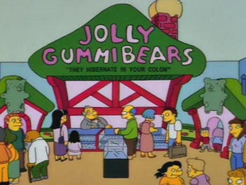 gummibears - funny signs from the simpsons