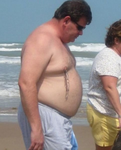 gut busting beach pics for summer time