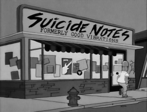 h e r o i n tumblr - funny signs from the simpsons