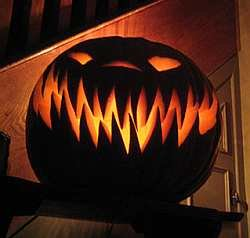 halloween jagged teeth jack lantern