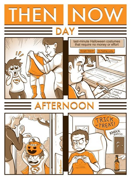 halloweenthenandnow1 - halloween then and now
