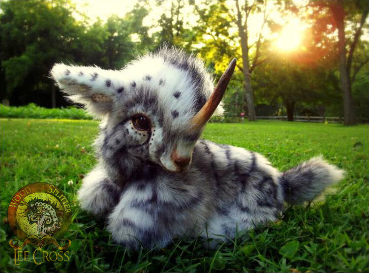 hand made poseable weighted baby unicorn