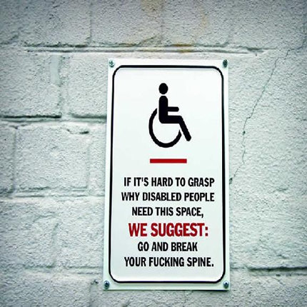 handicapparking - funny sign