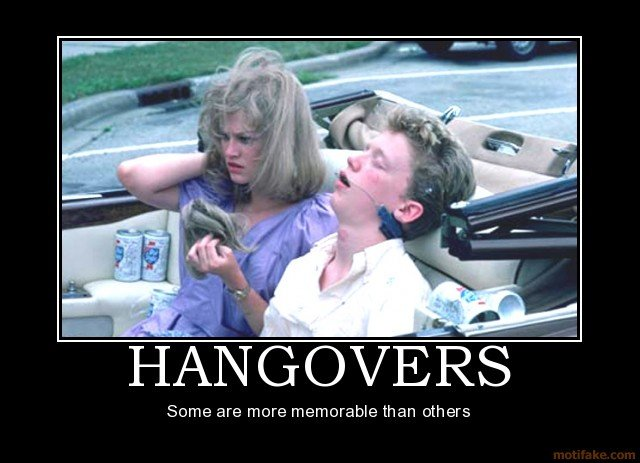 hangovers demotivational poster