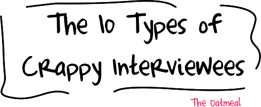 header - 10 types of crappy interviewees