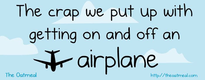 header - the crap we put up with on an airplane