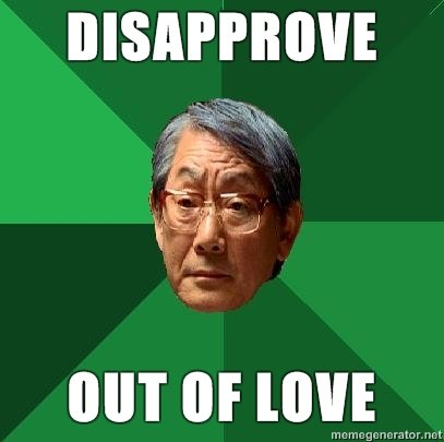 high expectations asian father disapprove out love