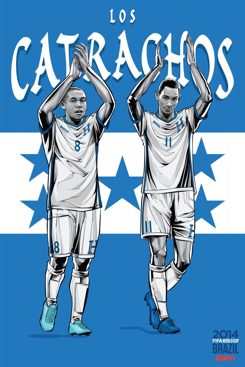 honduras - world cup 2014 team posters