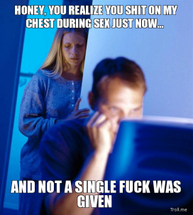 honey realize shit chest during sex now not single fuck given