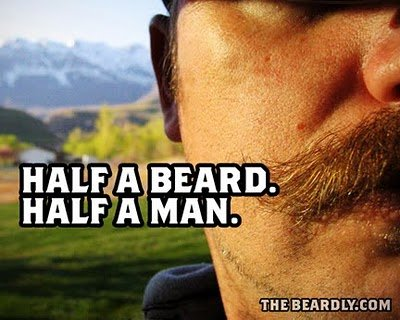 horizontal beardly half