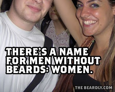 horizontal beardly women