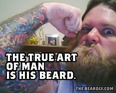 horizontal beardly trueart