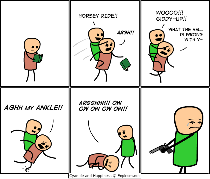 horseyride - cyanide & happiness pt 3