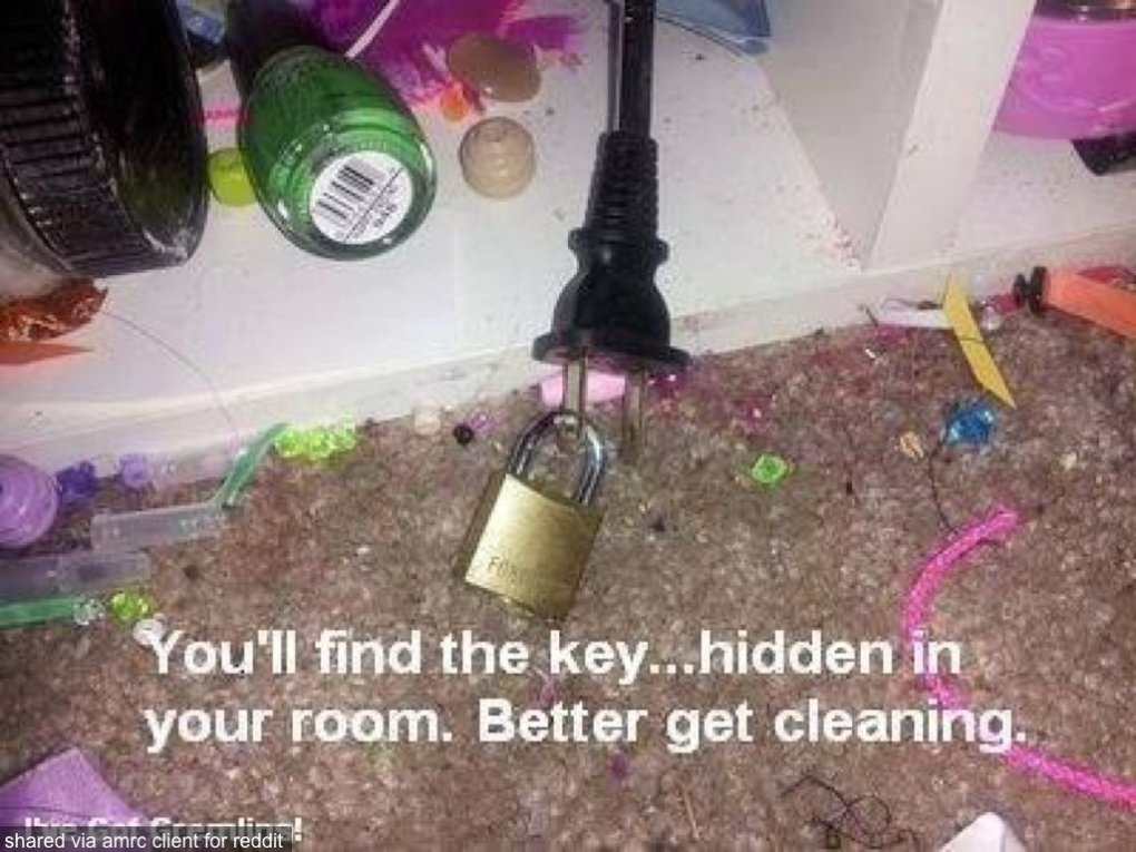 get your child clean their room