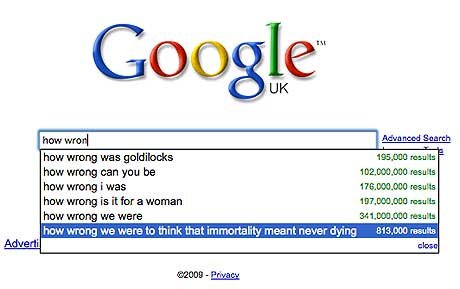 how wrong 1477716a - best ever google search suggestions