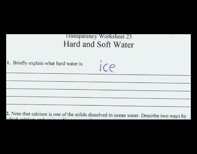 ice - funny test answers