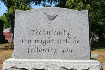 imightbefollowingyou - funny tombstones