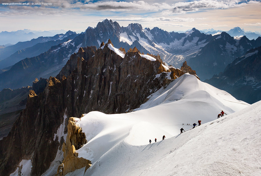 incredible capture jakub polomski see group alpinists making their way top