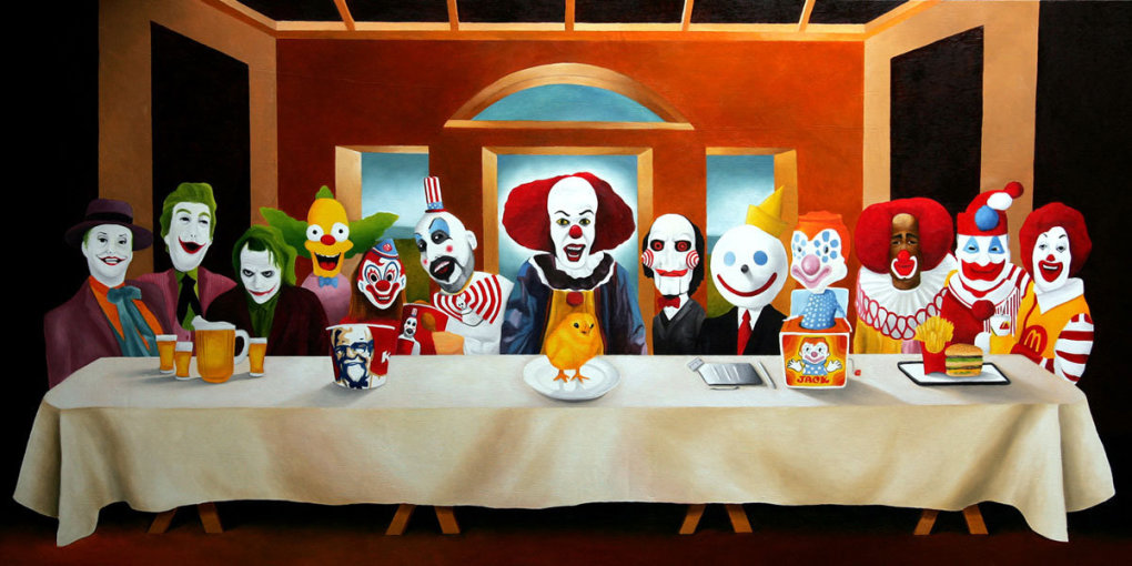 insaneclownlastsupper - epic wallpaper collection