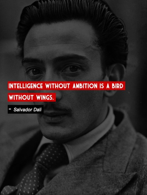 intelligence without ambitionsalvador dali