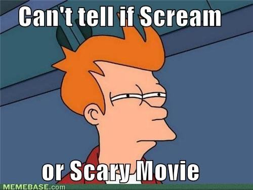 internet memes cant tell scream scary movie