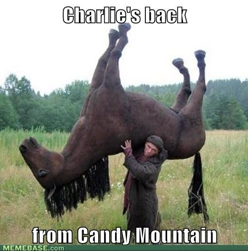 internet memes charlies back from candy mountain
