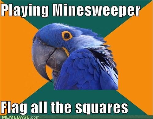 internet memes playing minesweeper flag all squares