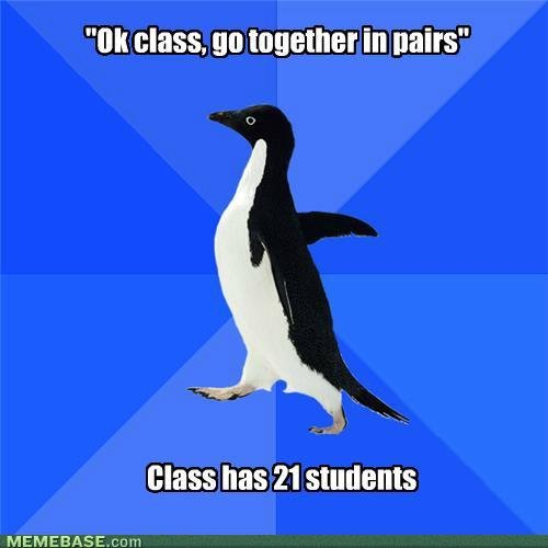internet memes socially awkward penguin there logical solution