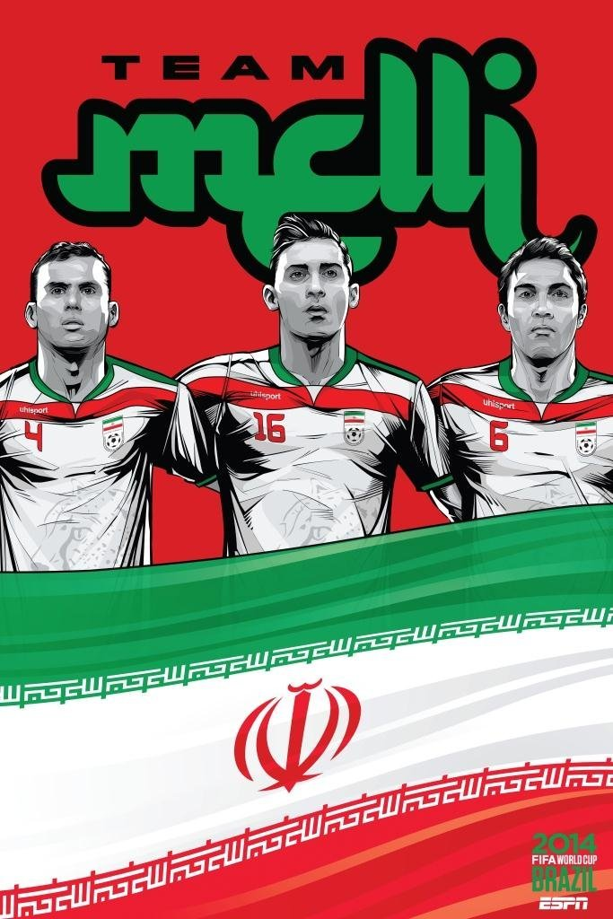 iran - world cup 2014 team posters