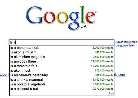 is a 1477732a - best ever google search suggestions