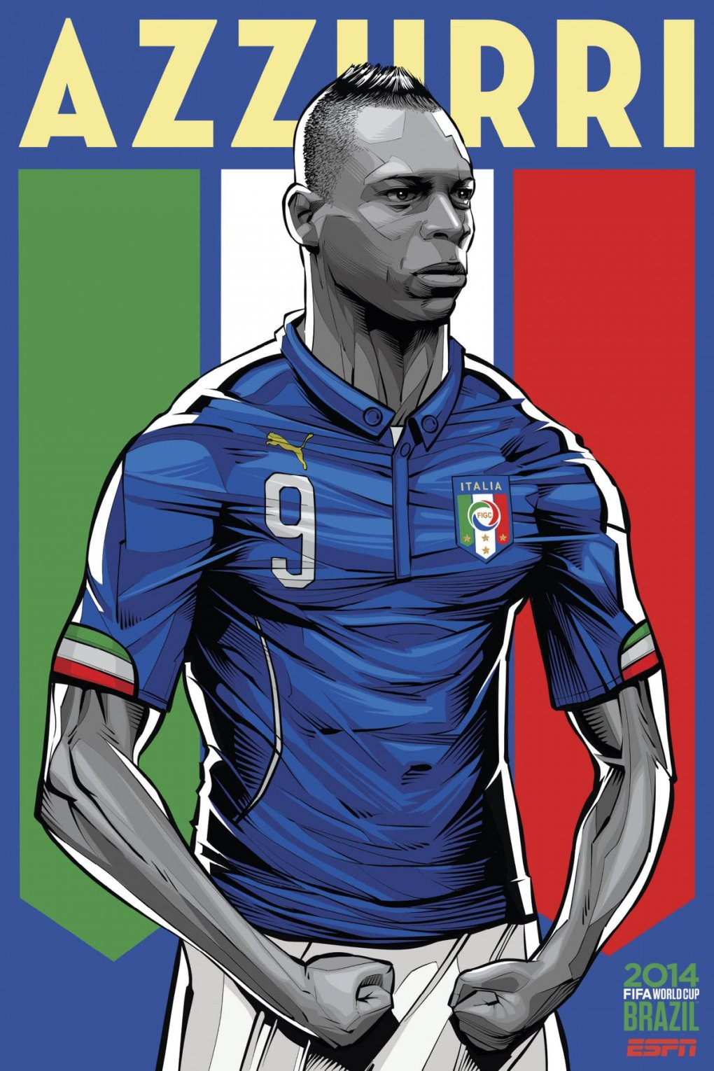 italy - world cup 2014 team posters