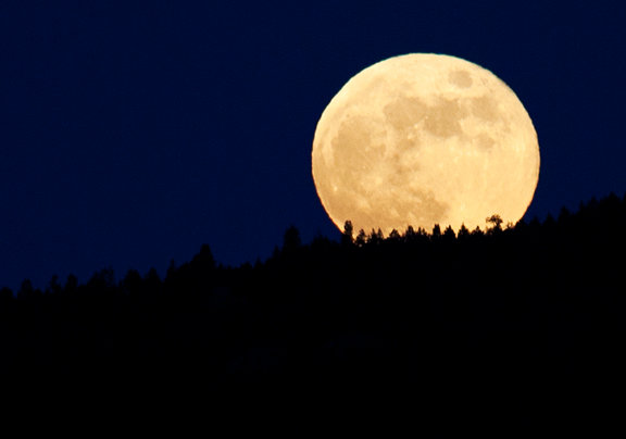 howling time full moon rising evening