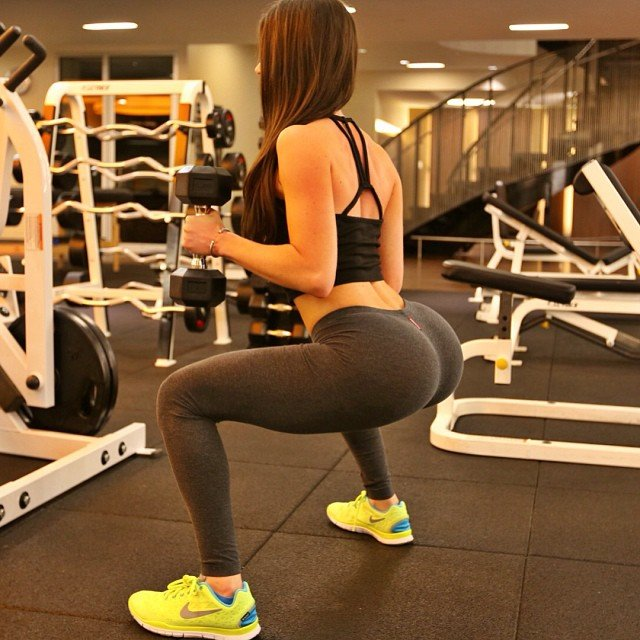 jen selter working out tight grey yoga pants