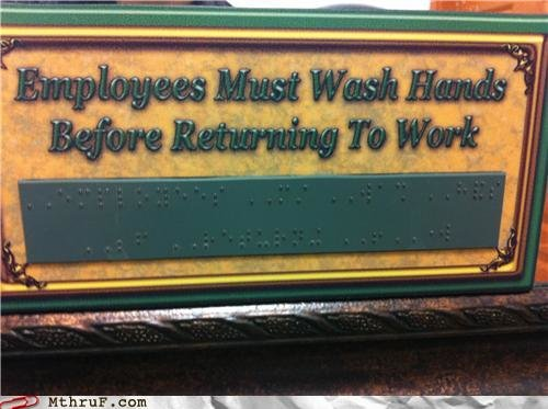 job fails ewww blind people germs