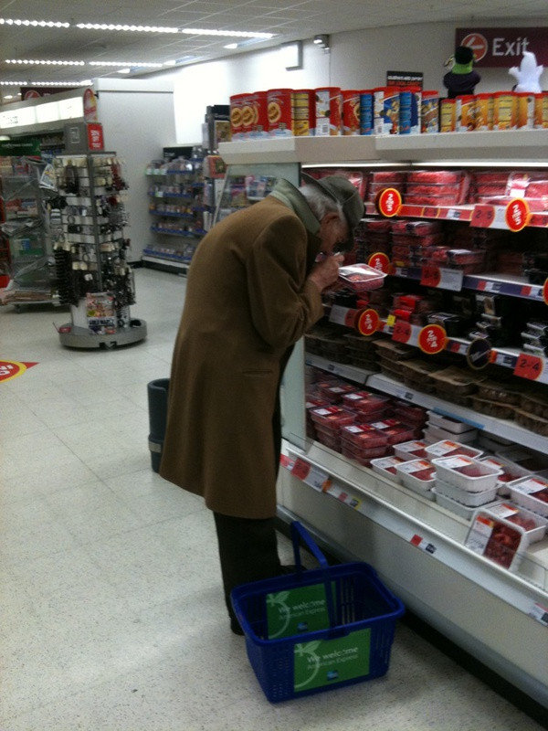 spotted sherlock holmes doing his grocery shopping