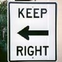 keepright - funny sign