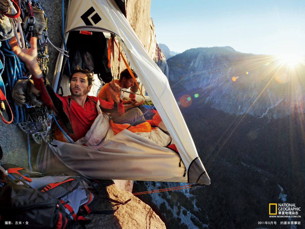 kevin jorgeson left tommy caldwell live portaledge feet above yosemite valley