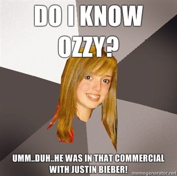 know ozzy ummduhhe commercial justin bieber