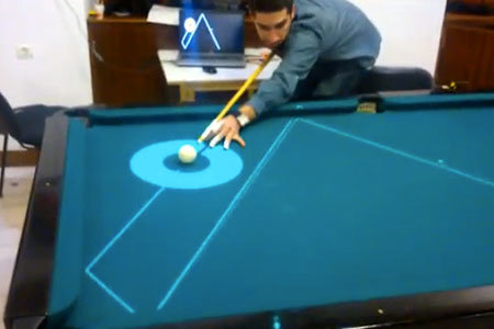 laser pool table