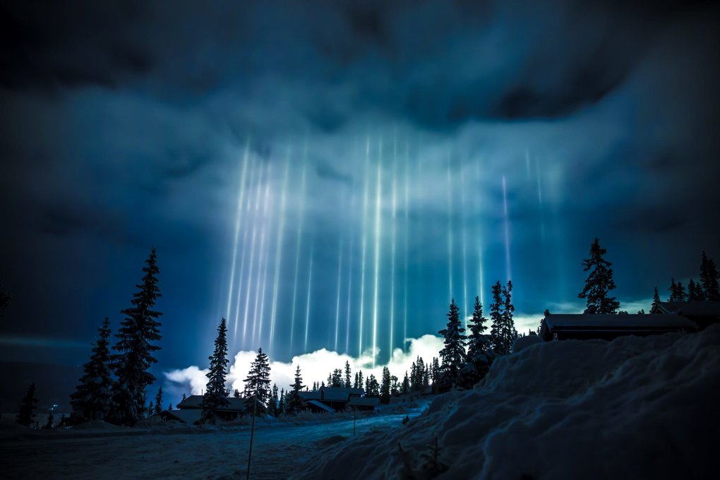 light pillars norway
