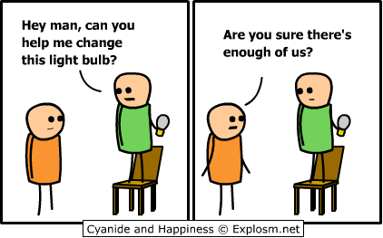 lightbulb wh - cyanide and happiness collection two