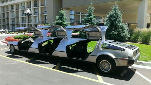 limo made from three deloreans