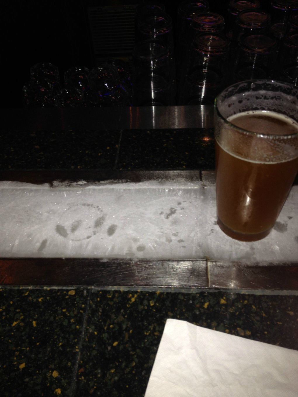 local bar ice strip keep your drinks cold