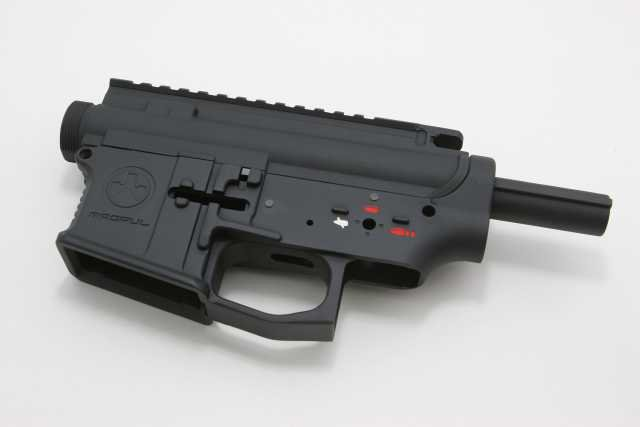 magpul pts receiver set black front