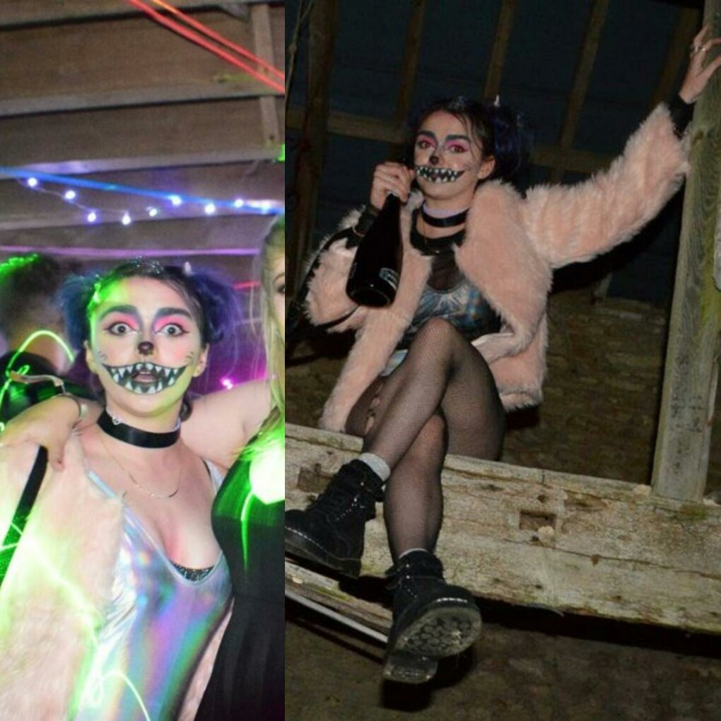 maisie williams sneaks into house party