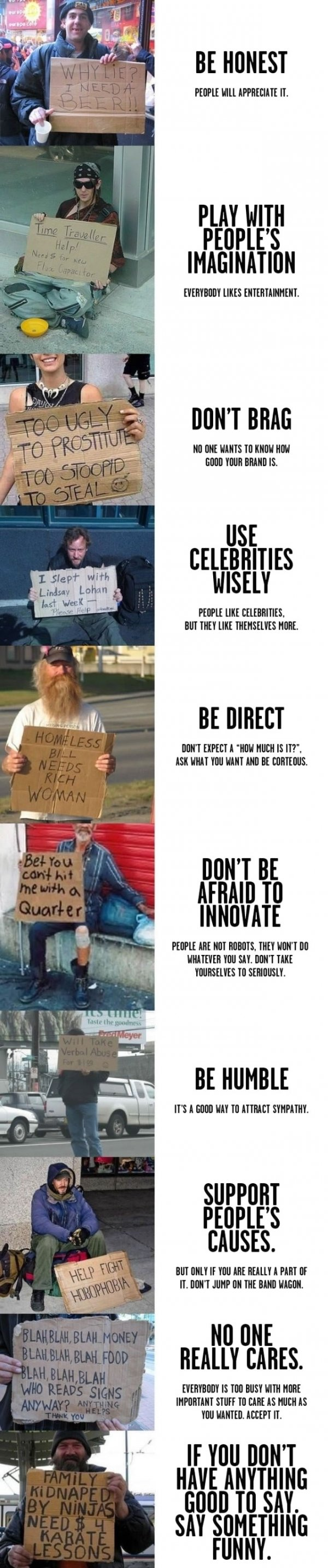 making homeless signs