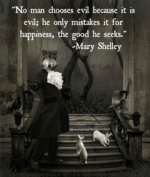 man chooses evil mary shelley