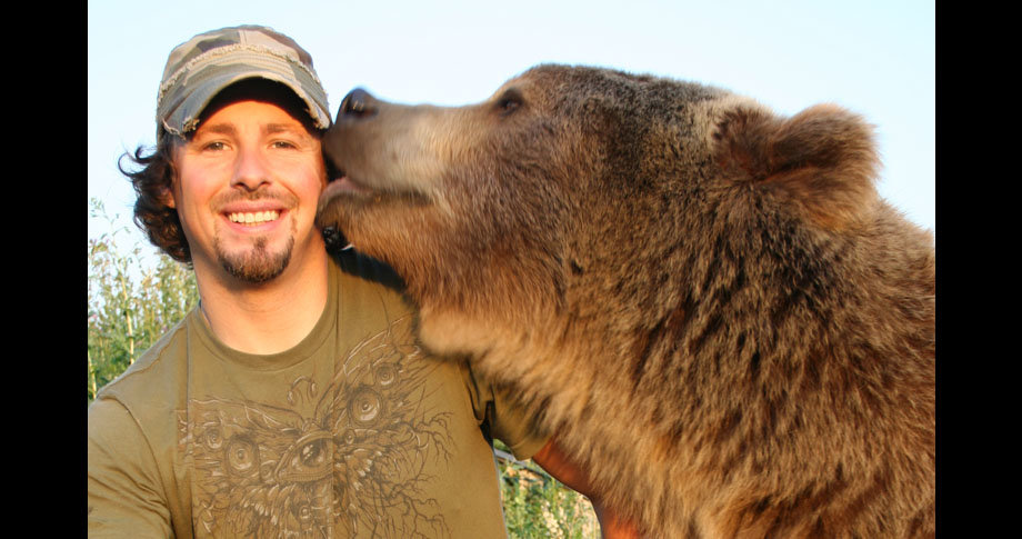 man and bear13 - a man and his grizzly bear