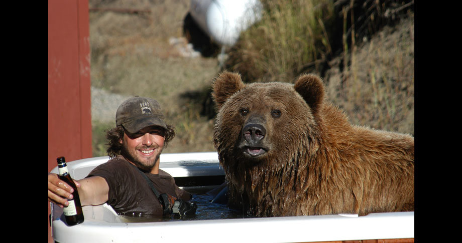 man and bear14 - a man and his grizzly bear