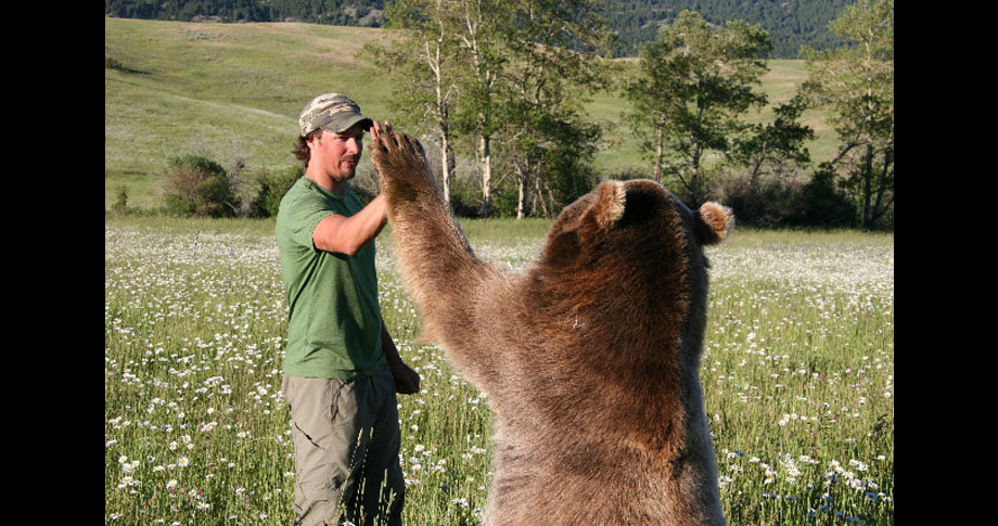 man and bear15 - a man and his grizzly bear